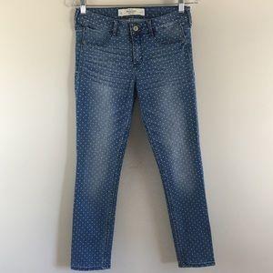 Abercrombie & Fitch Skinny Polka Dot Jeans Sz 29